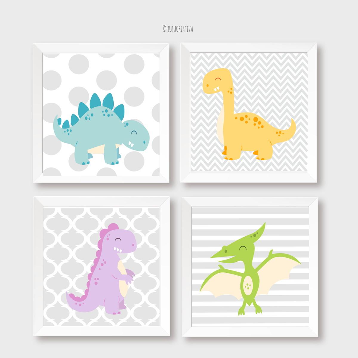 01aad542e9b9a1 Quadros Bebê Menino Dinossauros