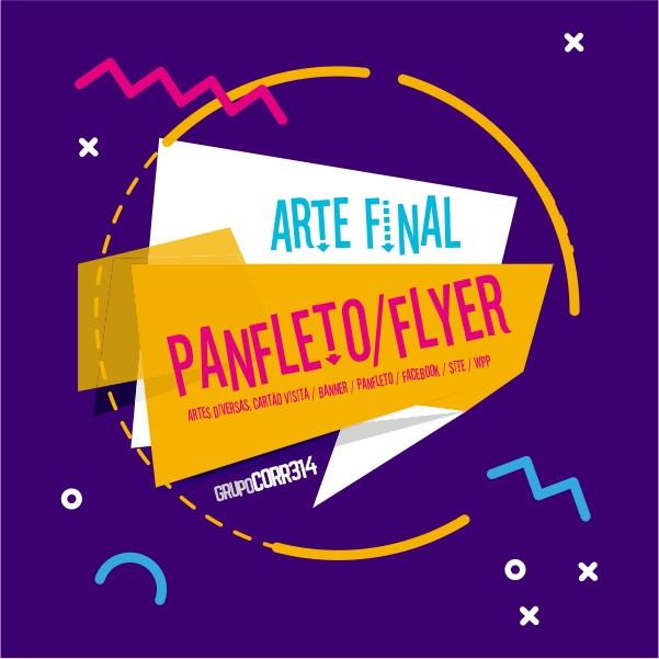 criação criar arte final para flyer panfleto folder folhetos no elo7