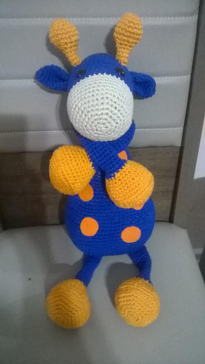 Amigurumi mcz - Uma linda girafa listrada. 😍 47cm . .... | Facebook | 1200x675