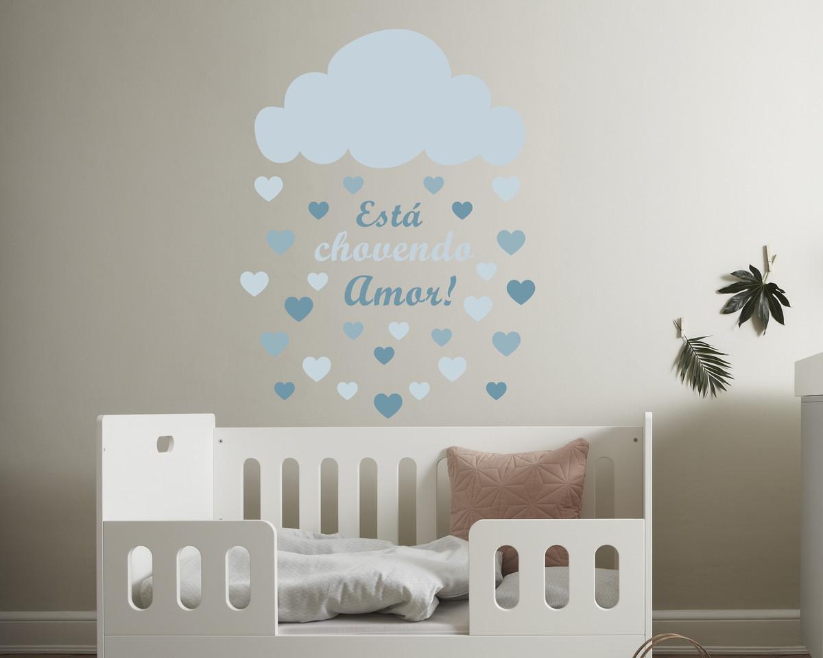 Armario Modulado Quarto Casas Bahia ~ Adesivo nuvem chuva de amor no Elo7 Quarto de Criança Lojadecoreacasa (B8B227)