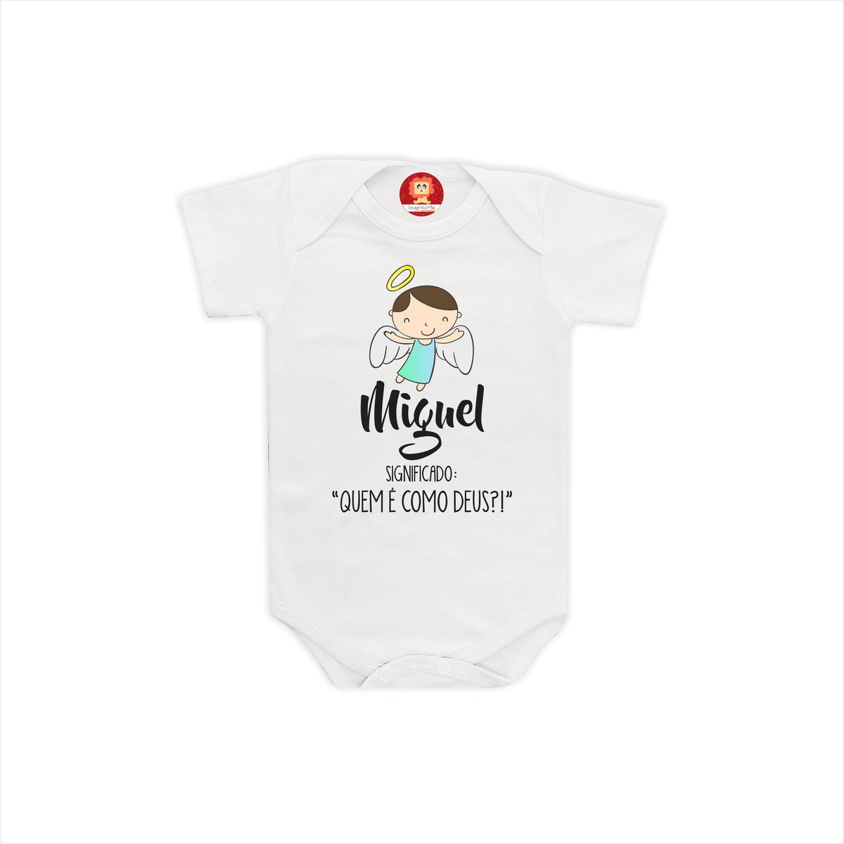 5af0ffc17 Body ou Camiseta Personalizado com Nome Miguel no Elo7