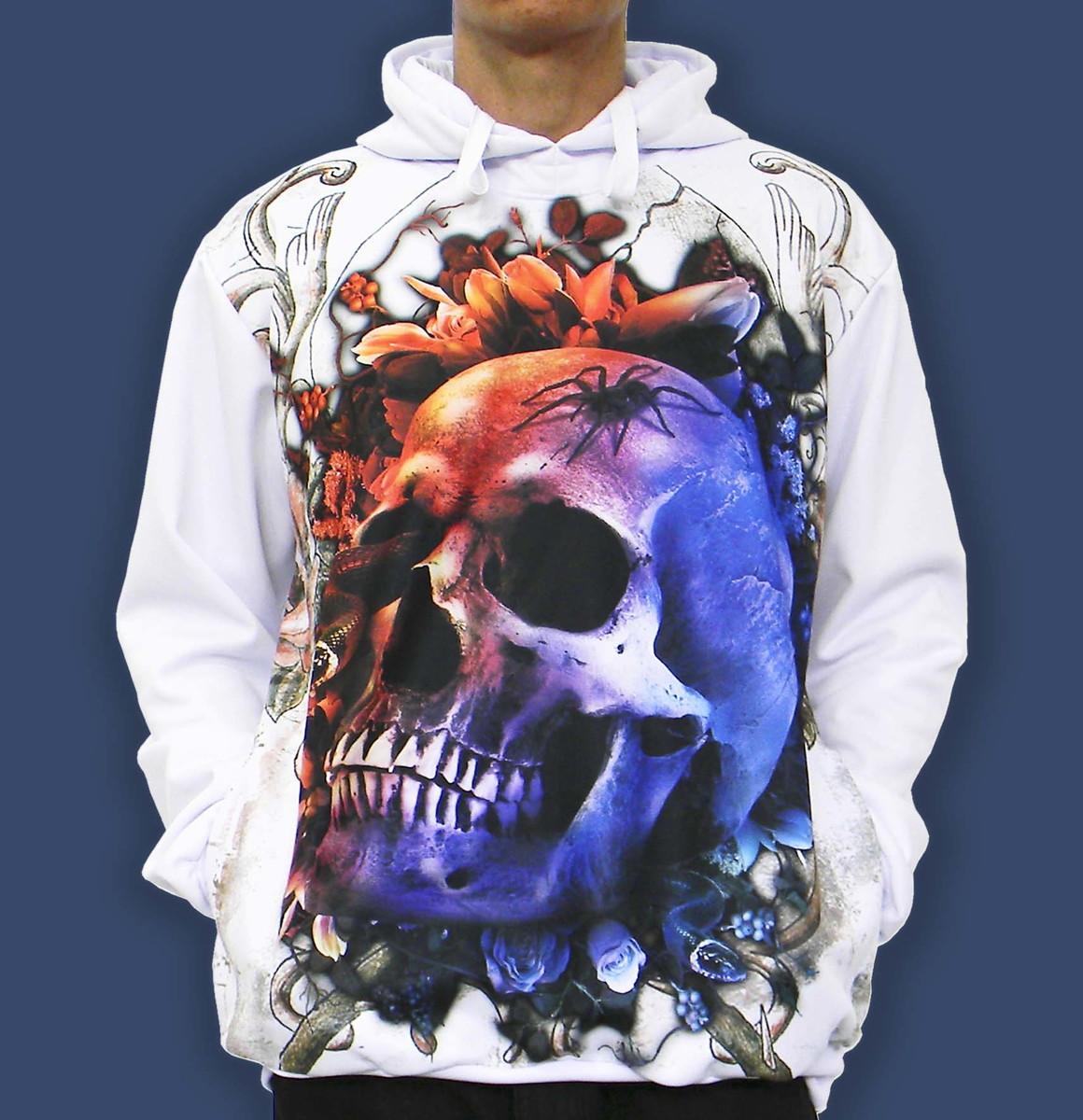 15e620c859 Blusa De Frio Printfull Skull Moletom Masculino E Feminino no Elo7 ...