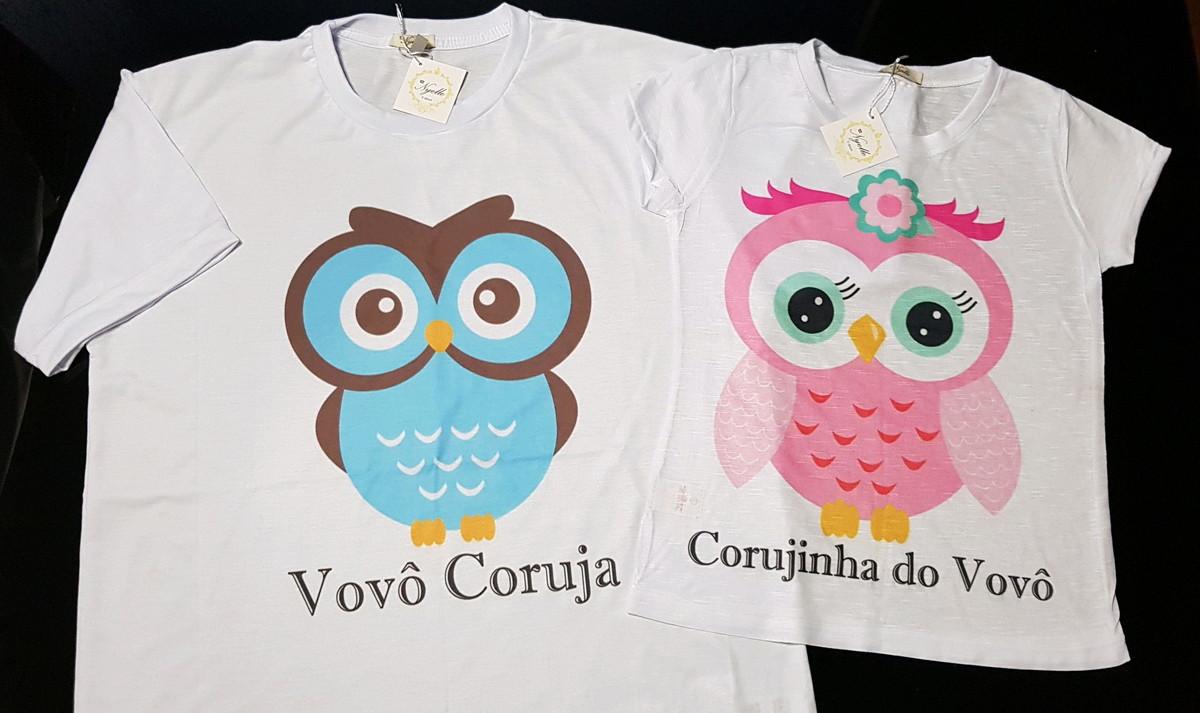 5bc7582a1 Camisetas T-Shirt - Tal Vovô, Tal Netinha - Corujinha no Elo7 ...