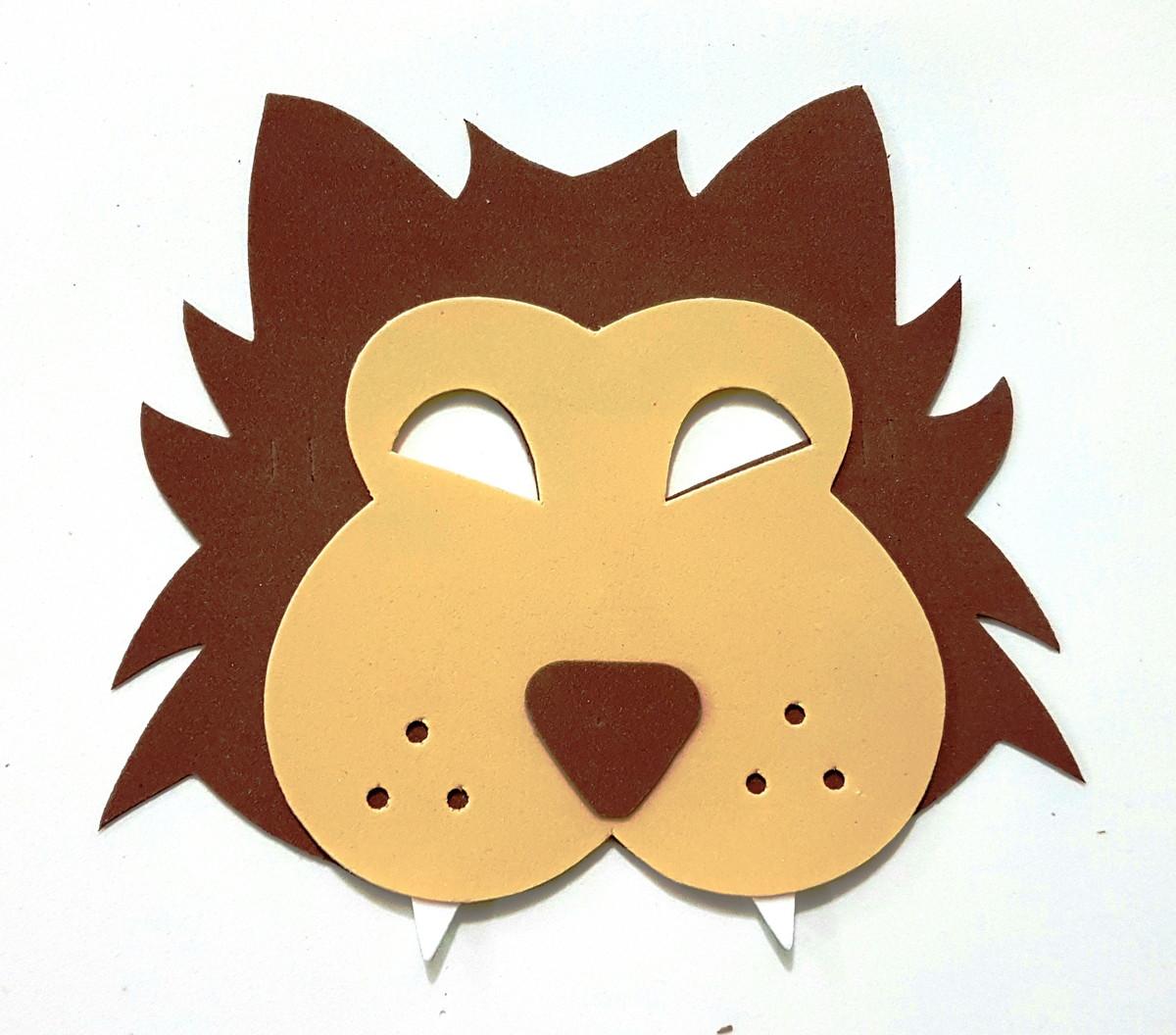 a506b4008c9 Máscara Eva lobo mau heróis no Elo7