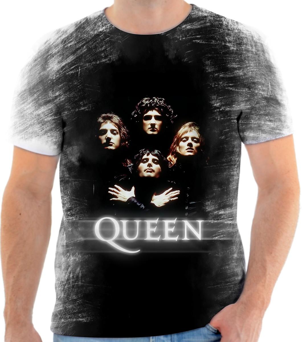 Camisa Camiseta Personalizada Banda De Rock Queen 1 no Elo7  3d1d2bce7314f