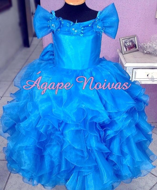 5033f0dfc Vestido Infantil Festa Babado Princesa Dama Noivinha vi02mb no Elo7 ...