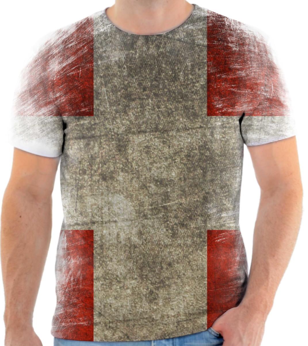 Camisa Camiseta Personalizada País Bandeira Da Suíça 2 no Elo7 ... 3c6a42ef3f885