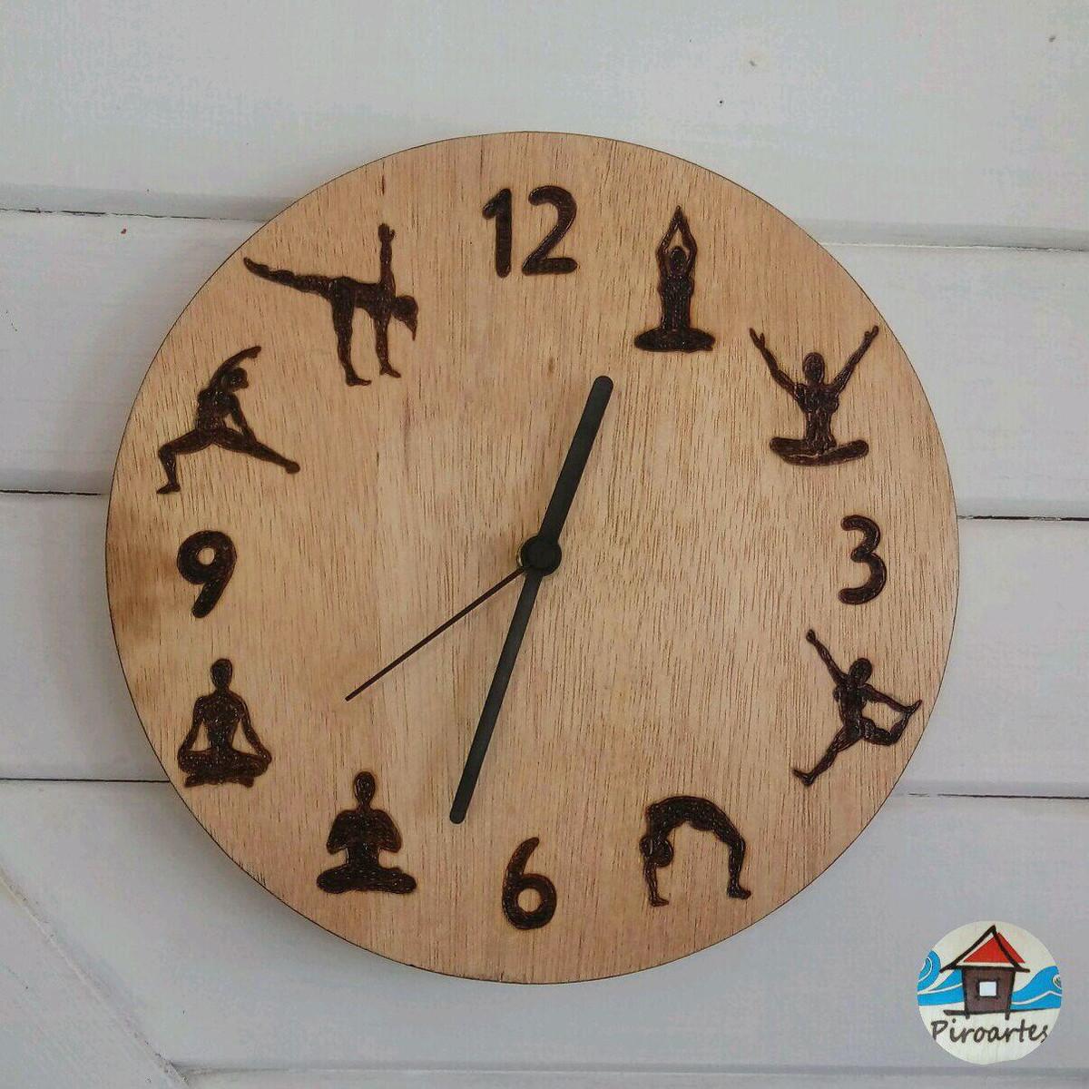 d0dd58f1355 Relógio de Parede Tema Yoga no Elo7