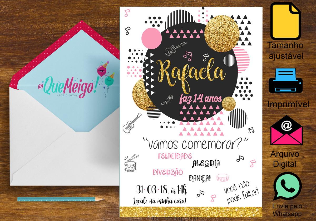 5cb94a18b Convite Jovem no Elo7   Que Meigo! Arte Digital (B93D53)