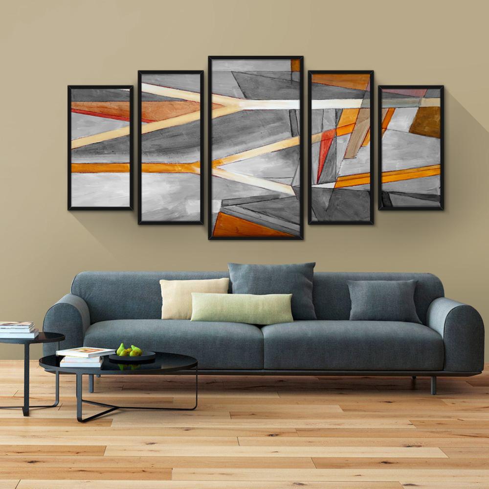 Quadro Decorativo Moldura Jogo Mosaico Sala Quarto Pintura No Elo7  -> Quadro De Parede Para Sala