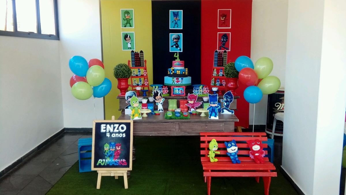 Aluguel decoraç u00e3o PJMASKS promoç u00e3o no Elo7 Dulce Fiesta Decora (B98429) -> Decoração De Festa Infantil Zona Leste Sp