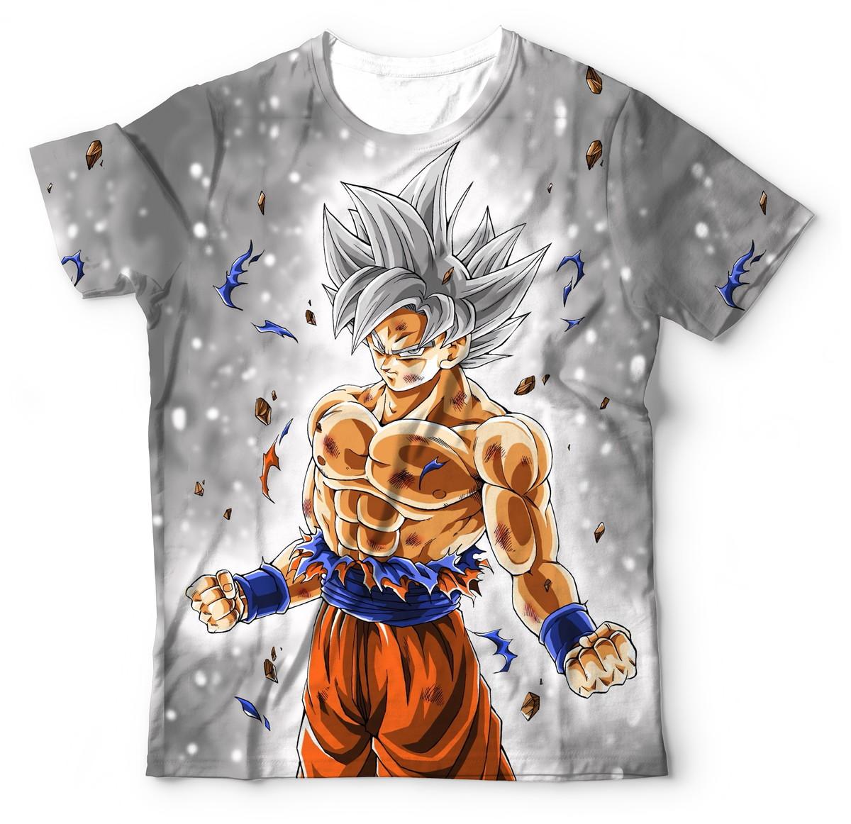 Camisa Camiseta Goku Instinto Superior Completo Dbz Super