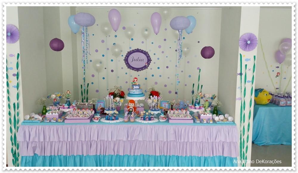 Decoraç u00e3o festa pequena sereia Ariel no Elo7 Ana Utino Decor Party (B9959E) -> Decoração De Pequena Sereia Simples