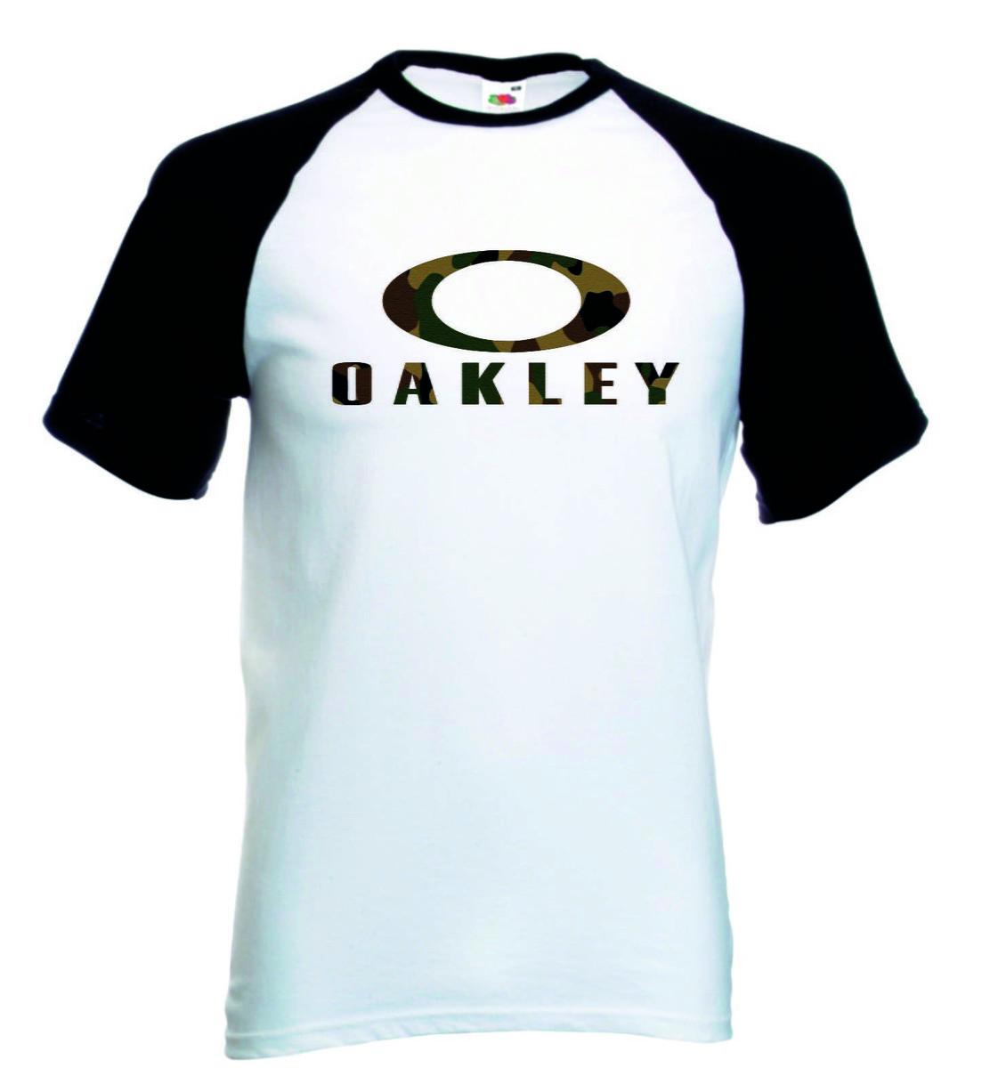10bf1be52f3ad Camiseta Raglan Oakley no Elo7