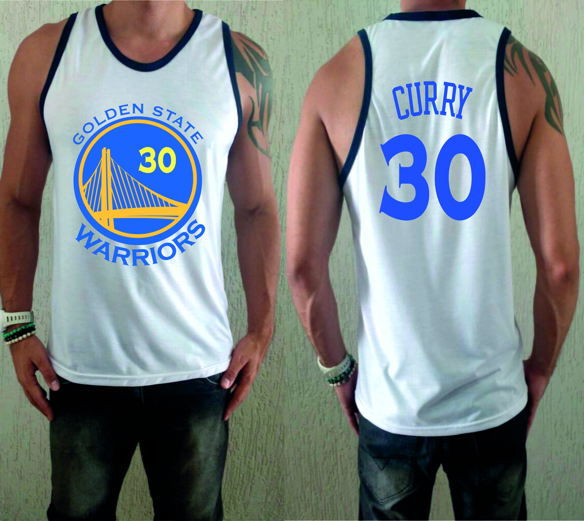 d76db5595d Camiseta Regata Golden State Warriors no Elo7