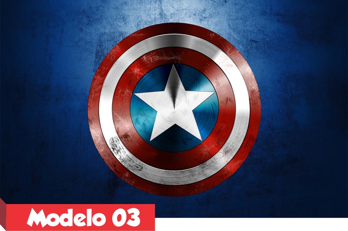 Papel De Parede Do Capitao America: Painel Lona Capitão América Escudo Festa Alta Resolução