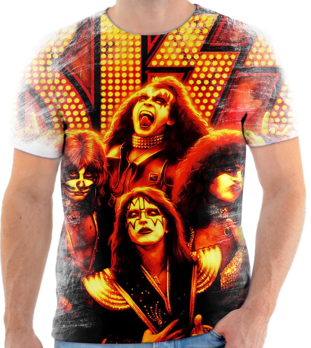 Camisa Camiseta Personalizada Banda De Hard Rock Kiss 7 no Elo7 ... 45e3dd912f269