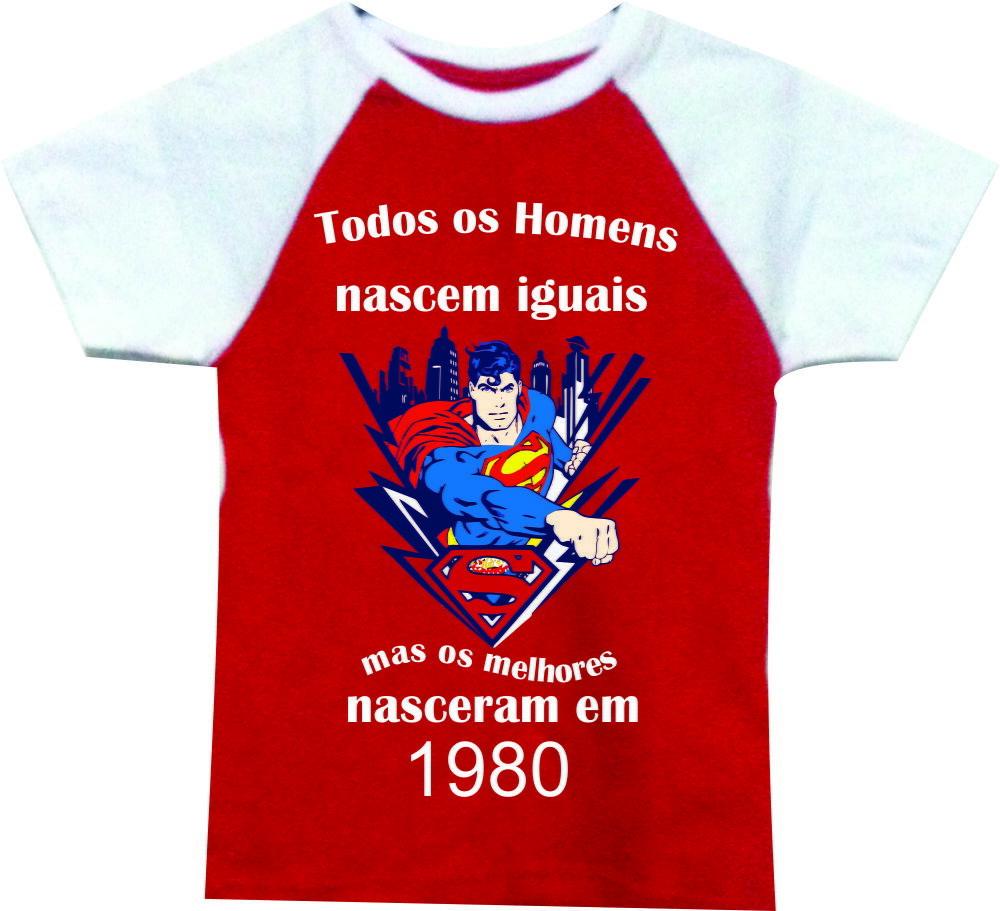 e35714efd8 Camiseta Personalizada mêsversario nascido em 1980 no Elo7