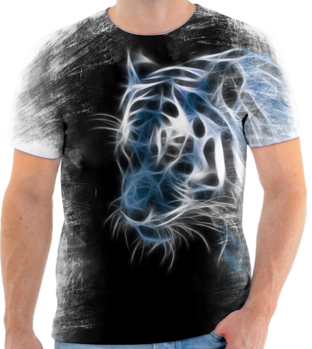 bc26103c45745 Camisa Camiseta Personalizada Animal Tigre Animal 01 no Elo7 ...
