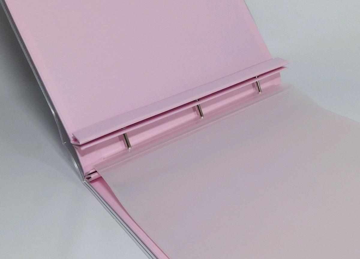 8f2261a62 Album pino 30x30 scrapbook- Rosa Claro Verona no Elo7