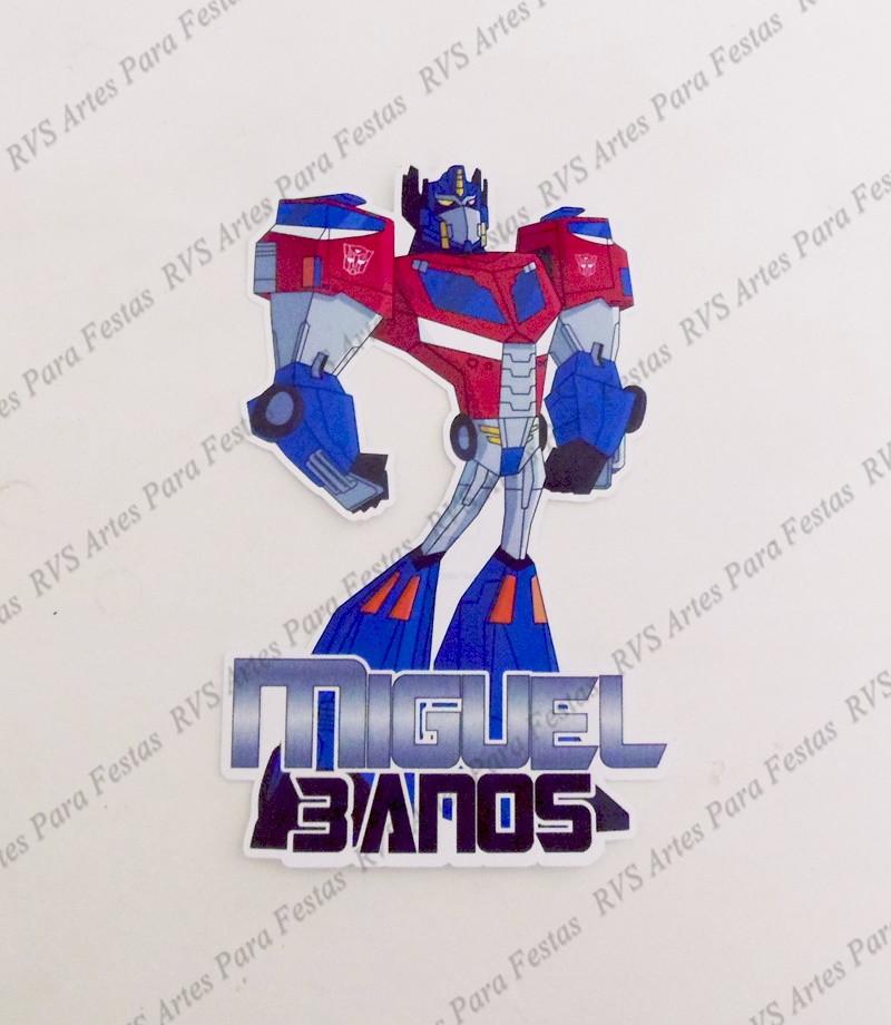 Aplique com 9,5 cm - Transformers