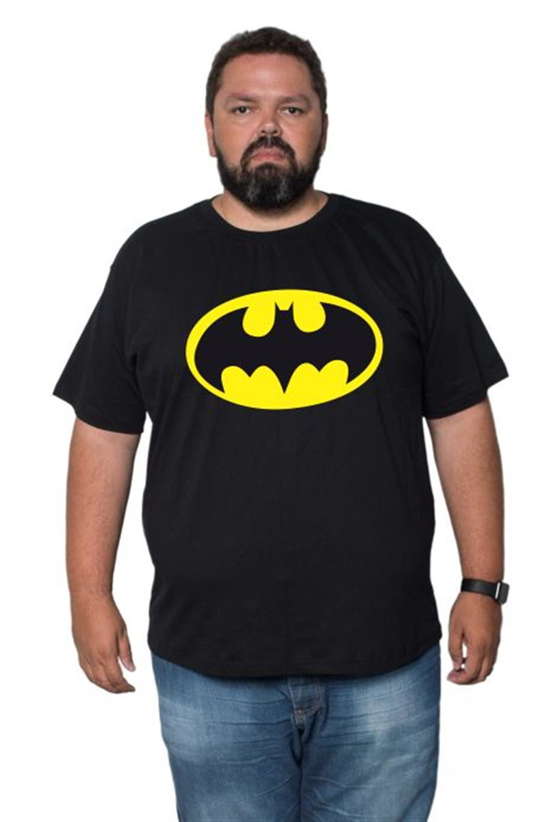 c39f36096031bb Camiseta Batman Estampada Plus Size Algodão