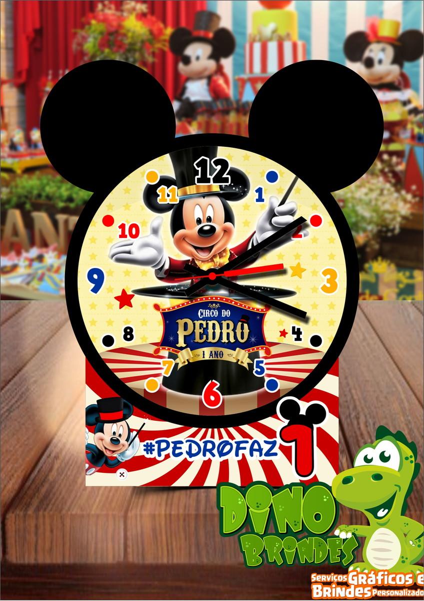 75baf62c94b Relógio de mesa circo do Mickey no Elo7