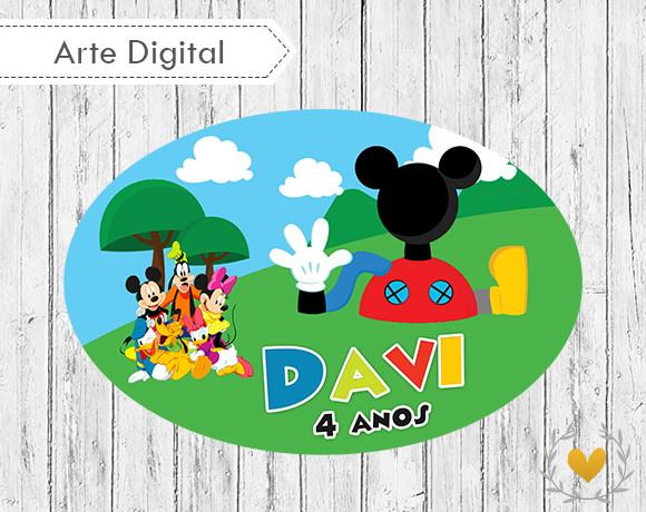 Placa Elipse Casa do Mickey (digital) no Elo7  3d9e9bd1da38d