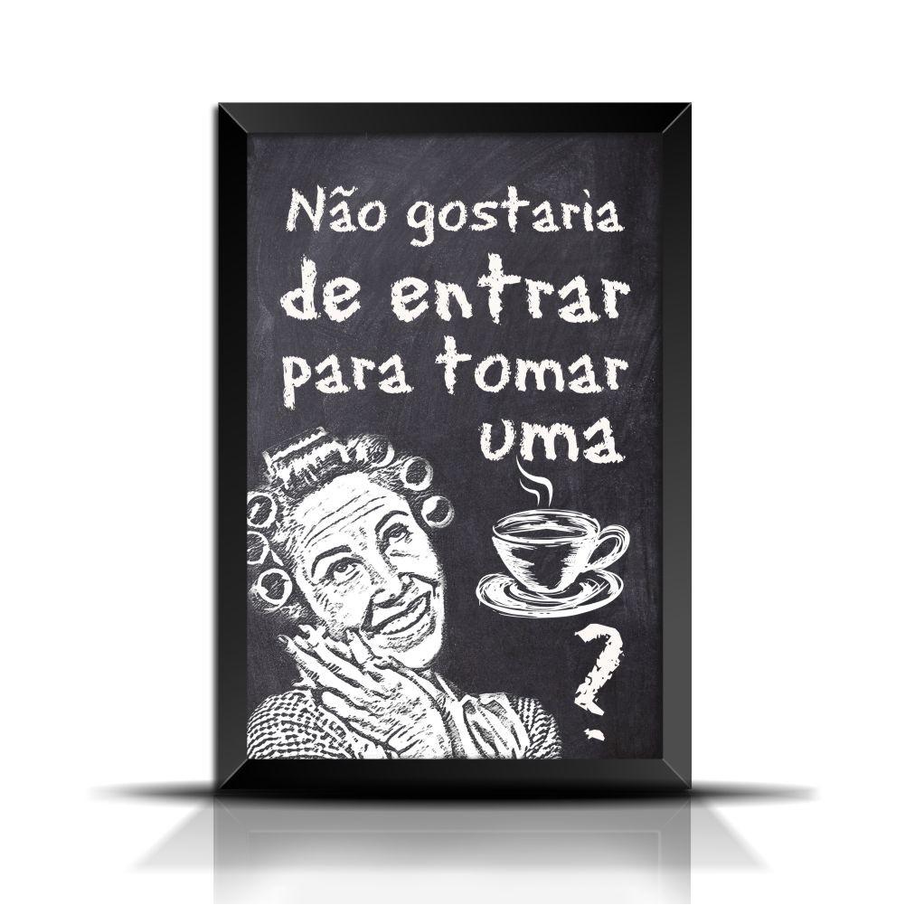 Quadro Poster Frase Xícara De Café Vd024