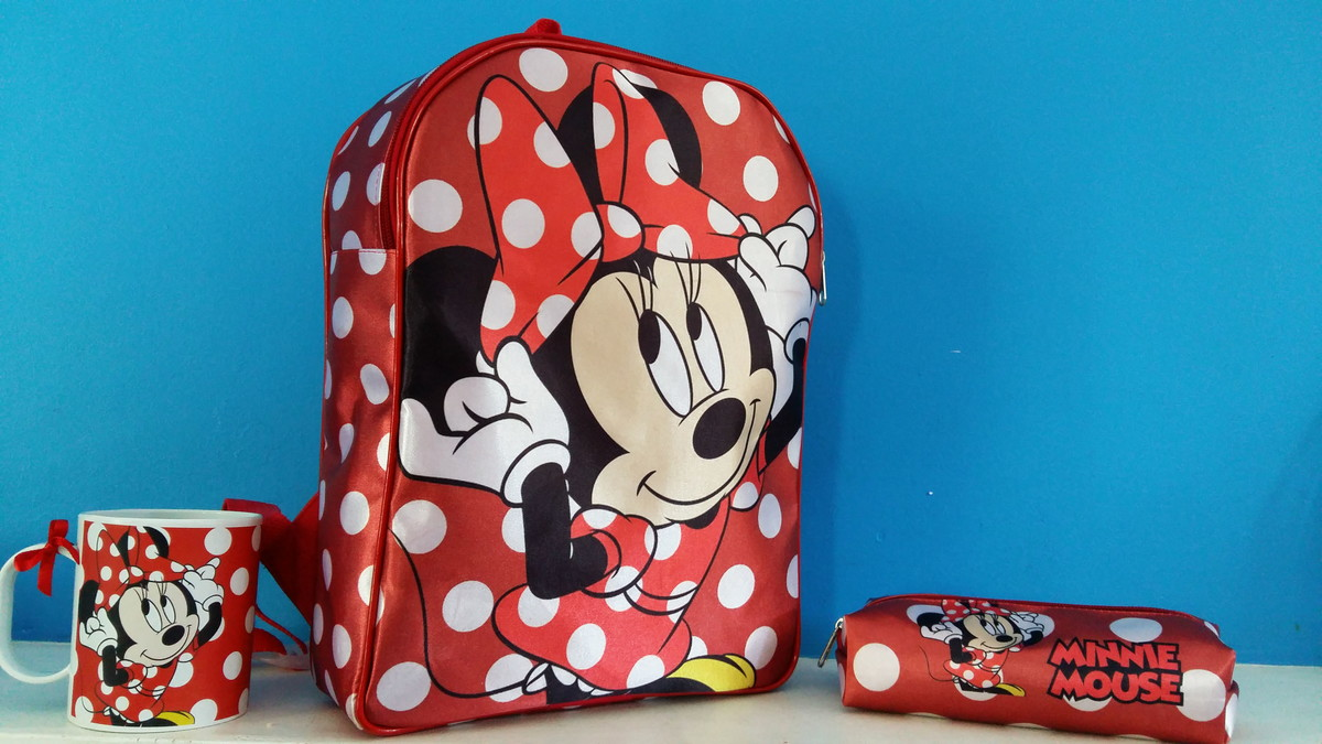 30210b18c Mochila Escolar Personalizada Minnie Vermelha kit Completo no Elo7 ...