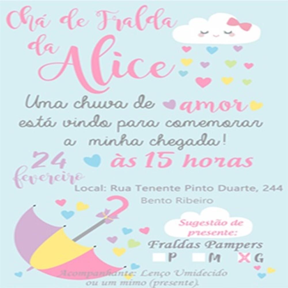 Tag Convite Para Cha De Fralda Chuva De Amor