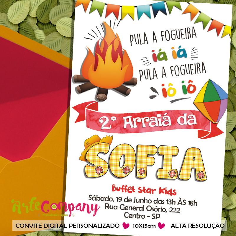 Tag Convite De Aniversario Infantil Tema Festa Junina