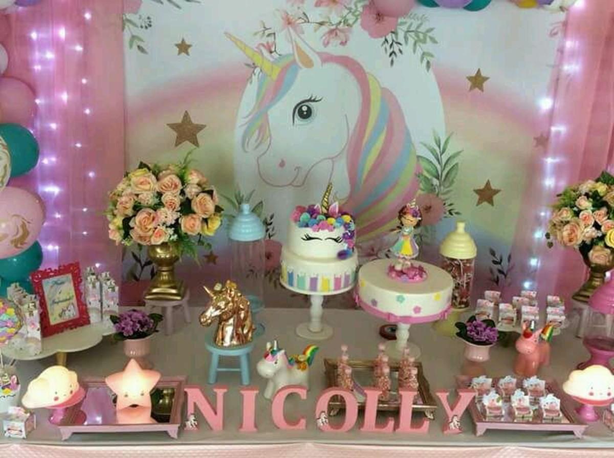 Decoraç u00e3o Unicornio no Elo7 Decorando Sonhos festas e personalizações (BAC7B5) -> Decoracao De Unicornio Infantil
