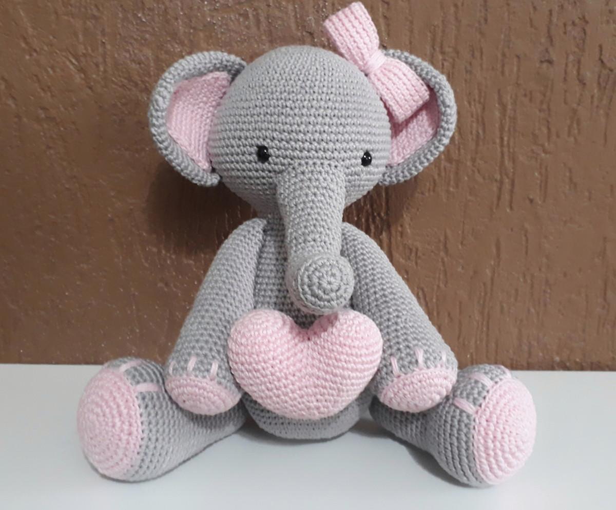 Amigurumi Elefante Sentado - Moritas Handmade | 993x1200