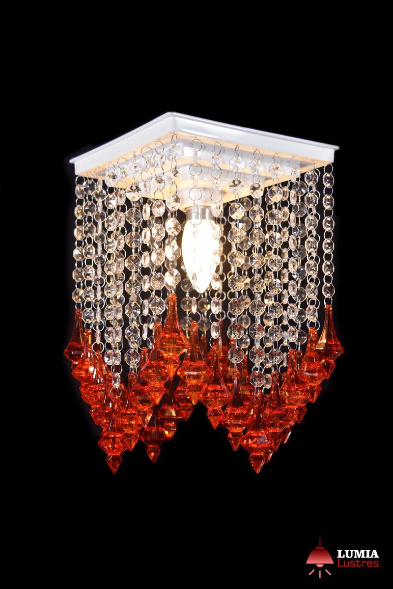 Lustre De Cristal Sala Quarto Pe O Vermelho No Elo7 Lumia Lustres  -> Lustre Para Sala De Jantar Vermelho