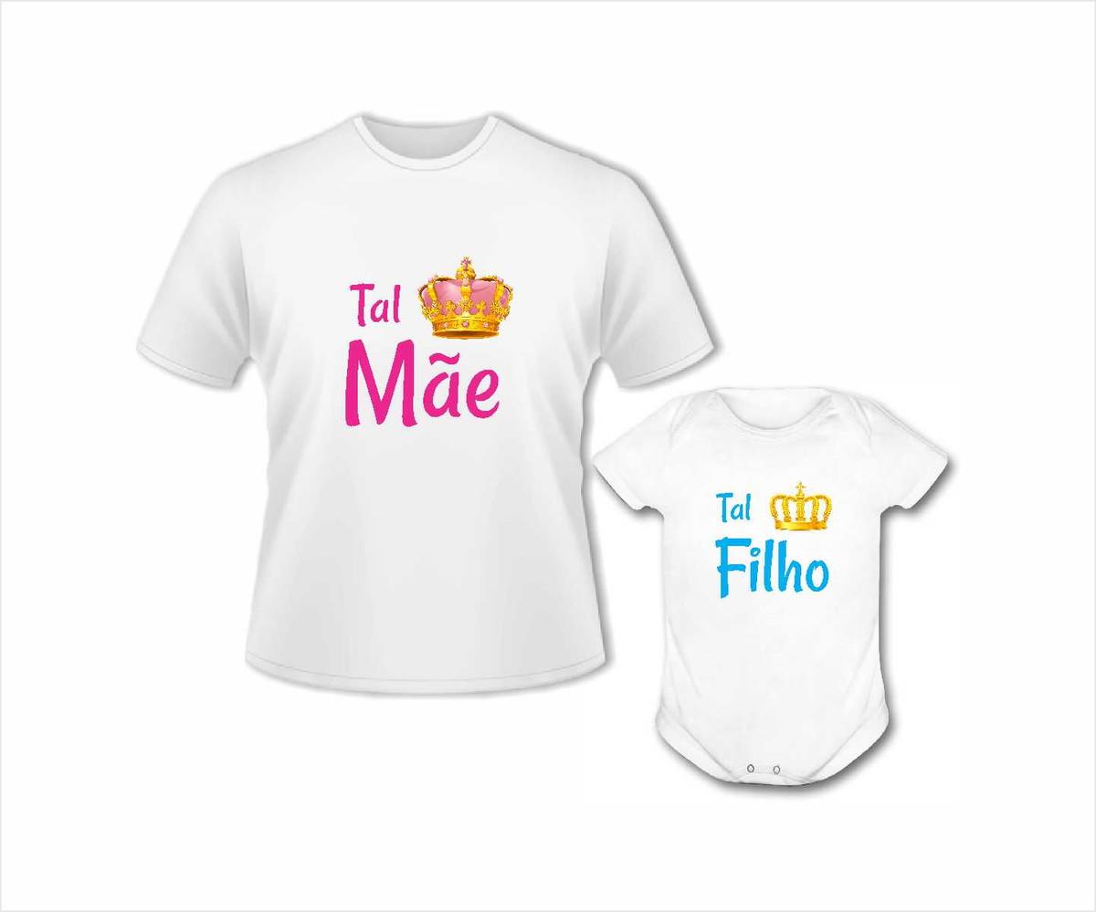 927776ebcce633 Kit camisa e body Tal Mãe Tal Filho