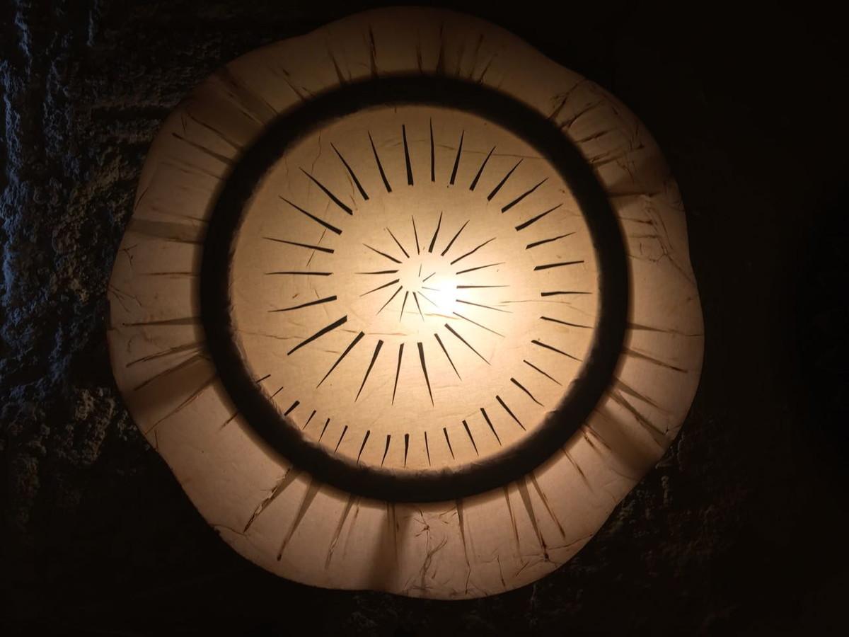 Lumin Ria De Parede Artesanal Decorativa Para Sala De Estar No Elo7
