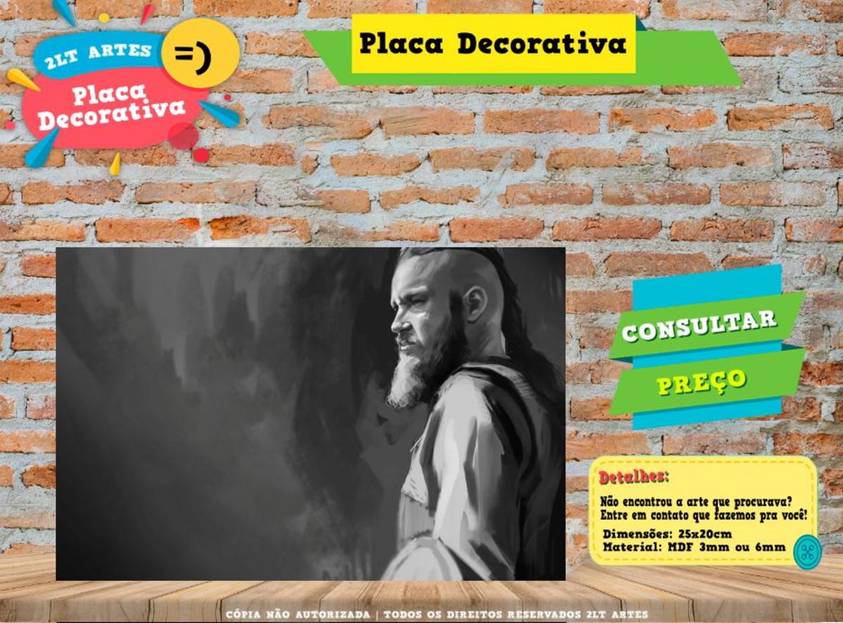 Placa Decorativa Vikings Ref0238 No Elo7 Al Criativos