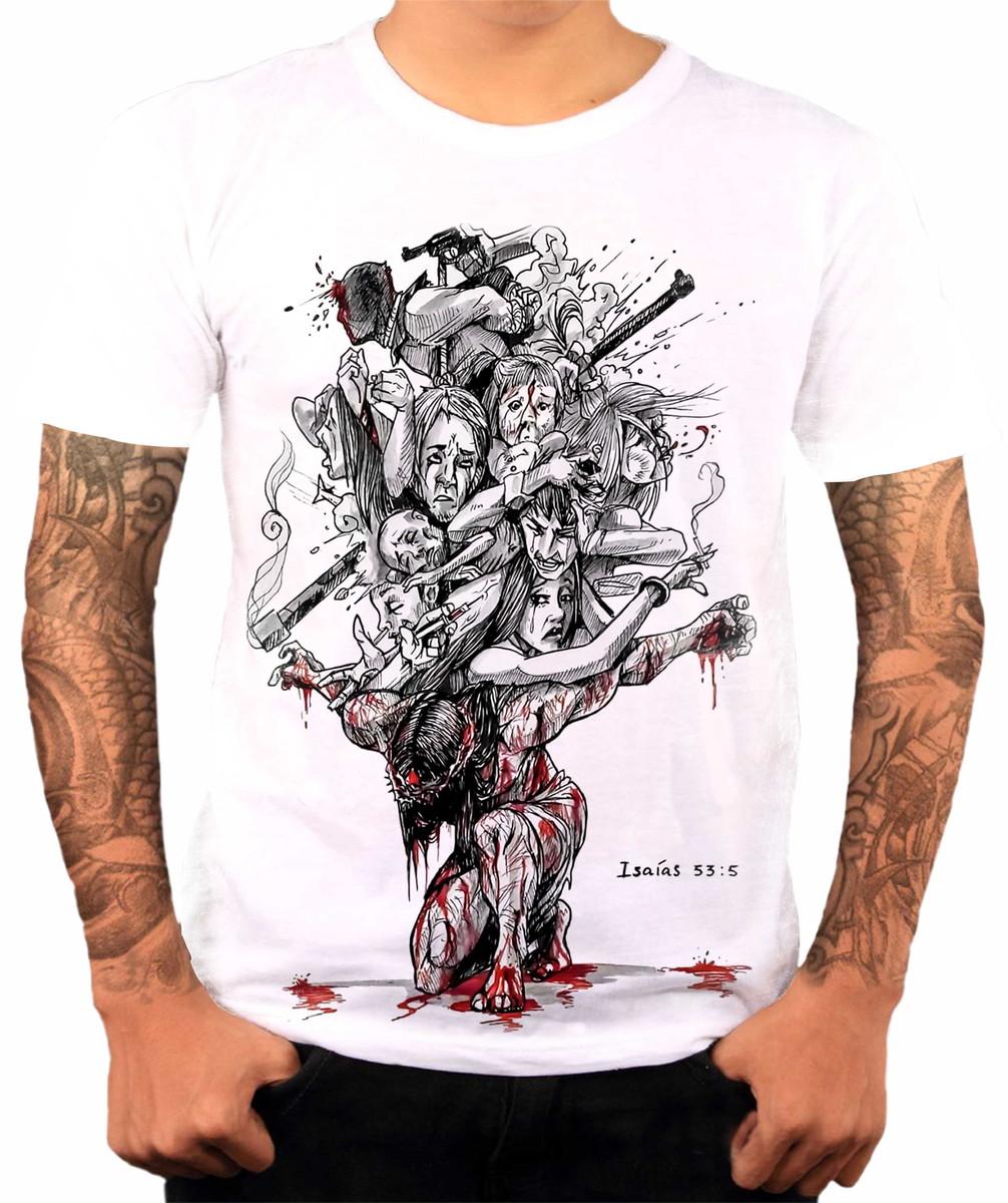 a3593822f3 Camisa Camiseta Personalizada Jesus Salvador Morreu Na Cruz no Elo7 ...