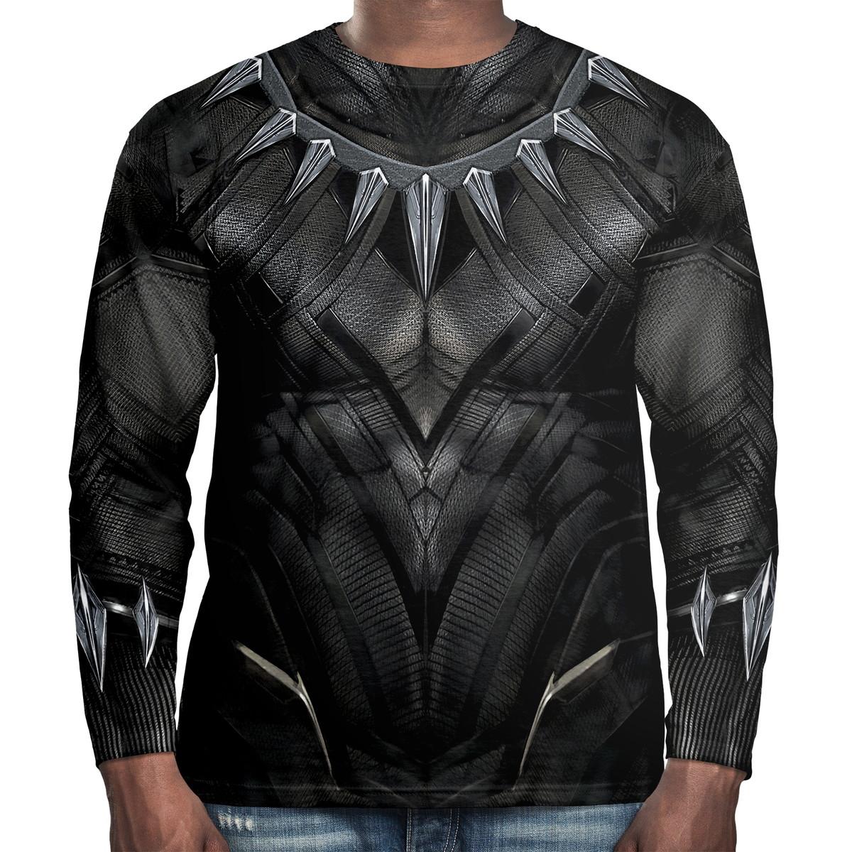 e141c8dfd4 Camiseta masculina manga longa pantera negra armadura no elo jpg 1200x1200 Camiseta  masculina manga comprida