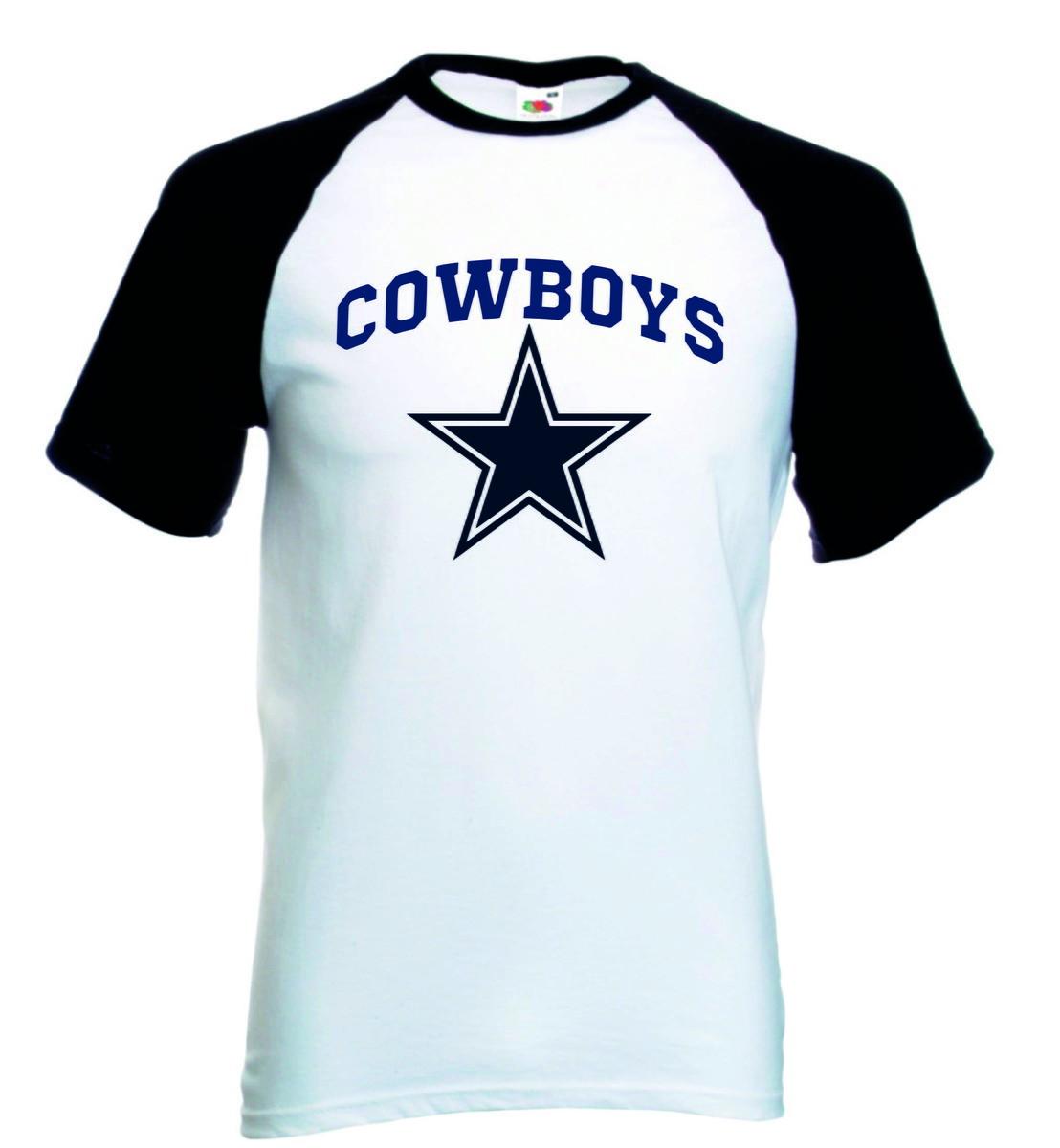 03a0fc0f49384 Camiseta Raglan Manga Curta Dallas Cowboys no Elo7