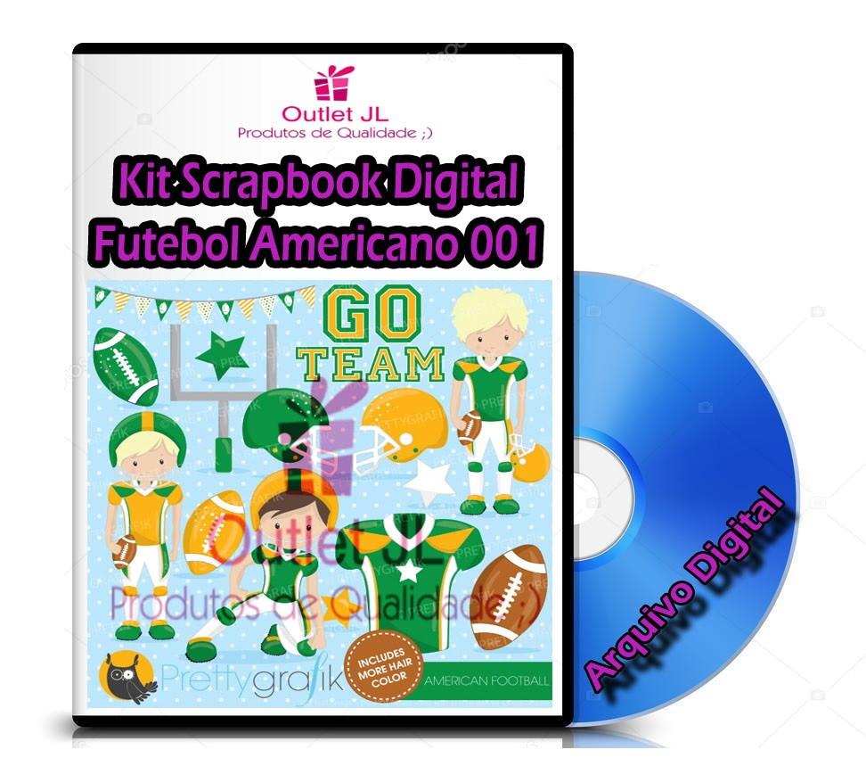 08f98a316d Mega Pack Scrapbook Digital - Futebol Americano 001 no Elo7