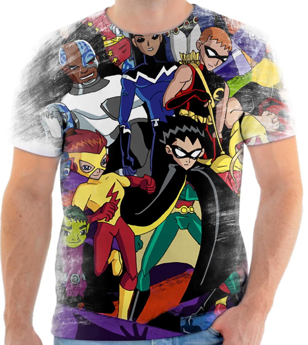 d2df417394 Camisa Camiseta Personalizada Desenho Cartoon Jovens Titãs 6 no Elo7 ...