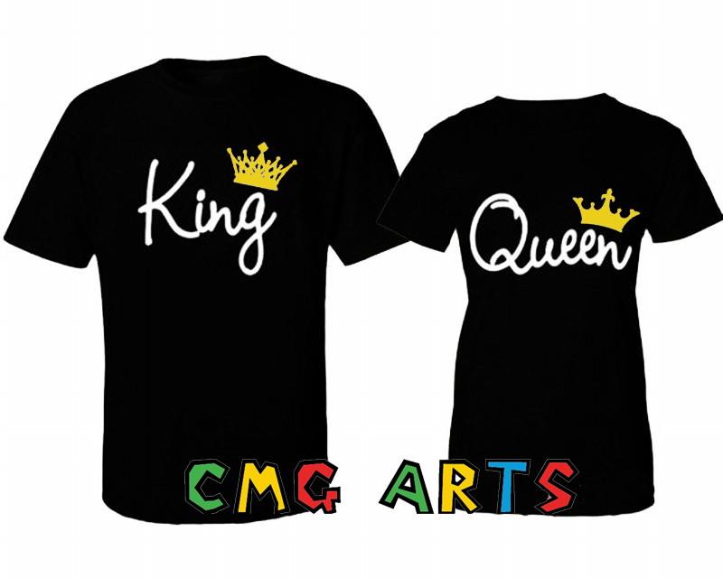 kit camisetas casal de namorados. king queen no Elo7  6da86fba819bc