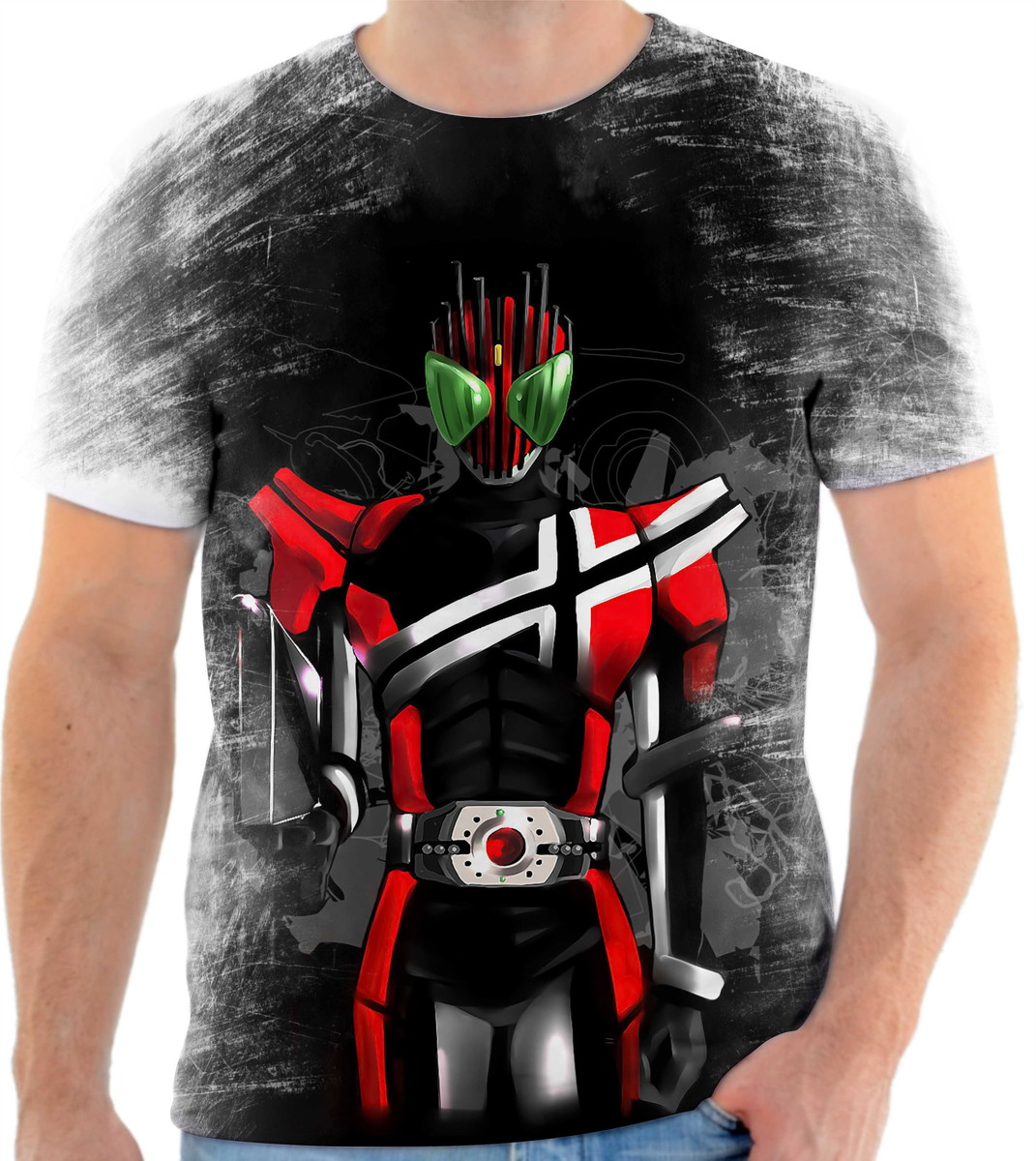Camisa Camiseta Personalizada Mangá Anime Kamen Rider 8