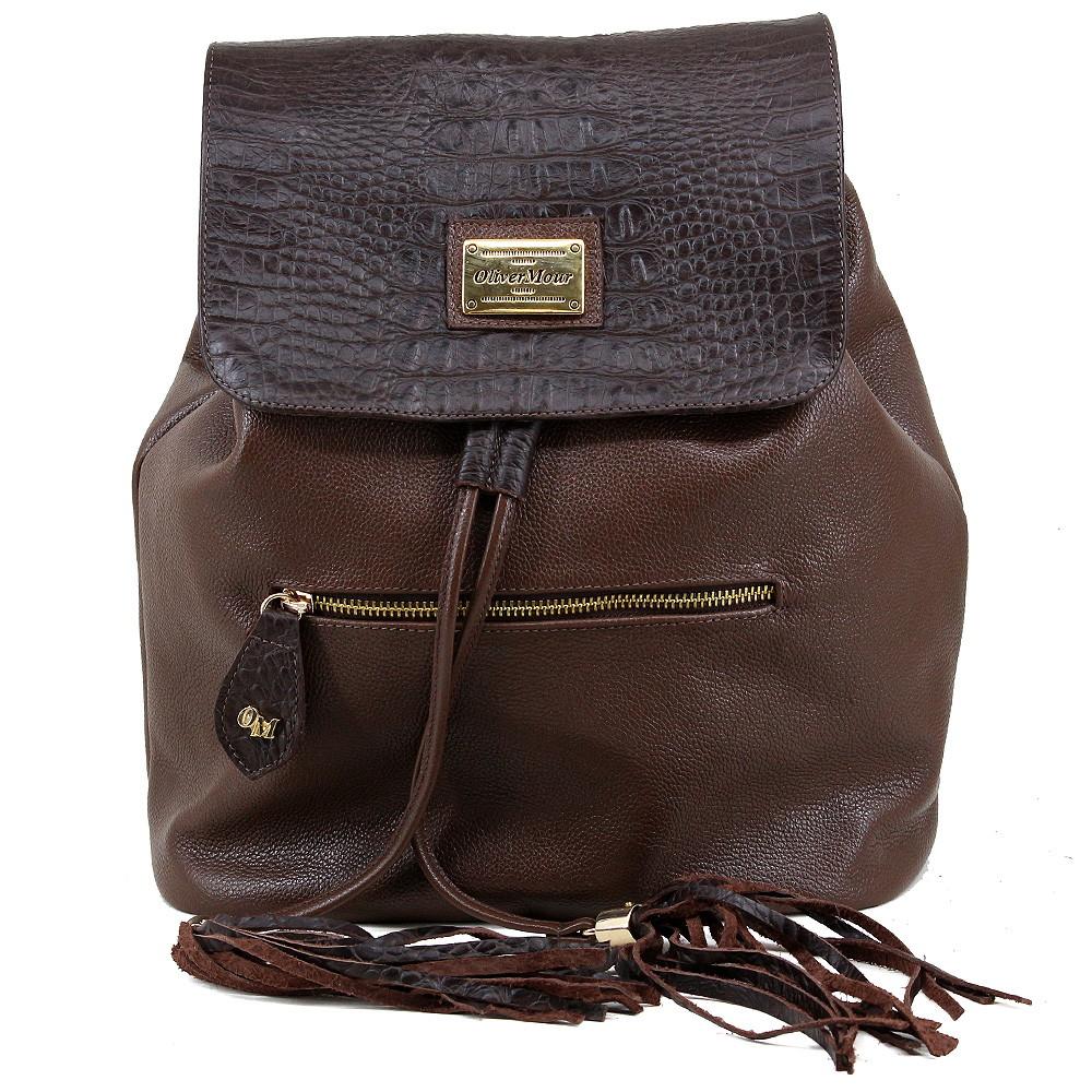 0e5608dfa bolsa mochila feminina em couro legítimo no Elo7