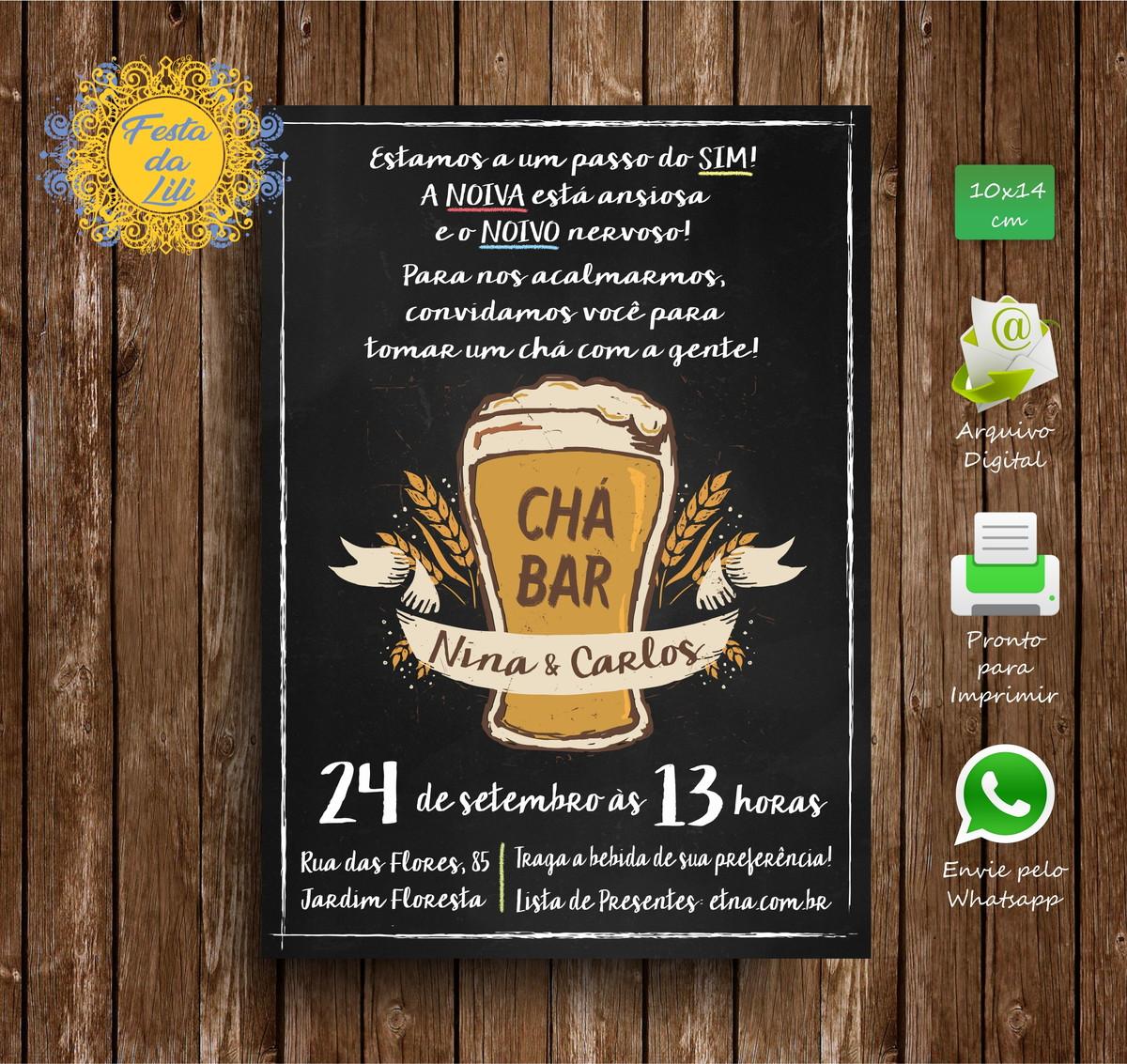 Convite Cha Bar No Elo7 Festa Da Lili Bb9d90