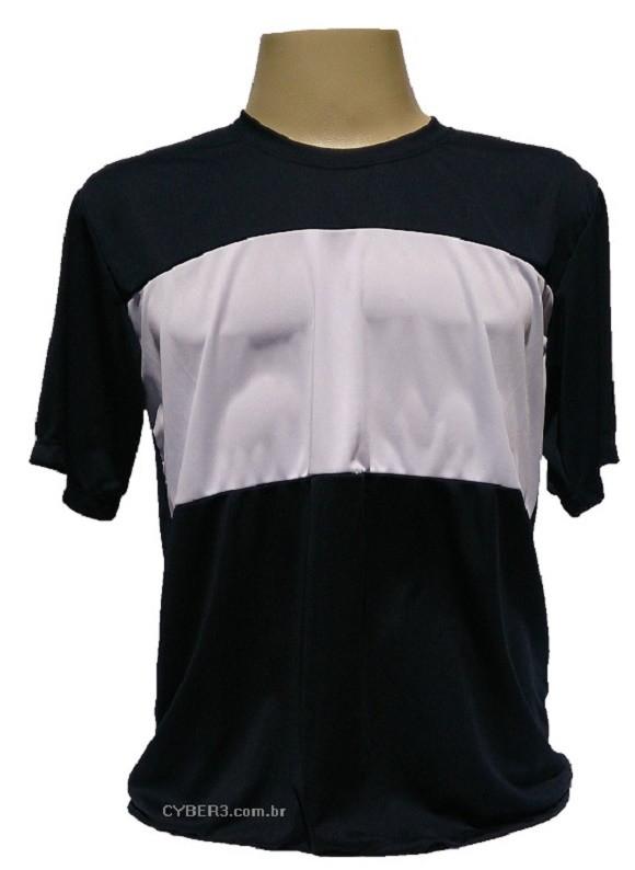 19a97b32ed4f8d Camisa Dry Fit Manga Curta Preta Faixa Branca Personalizada no Elo7 ...