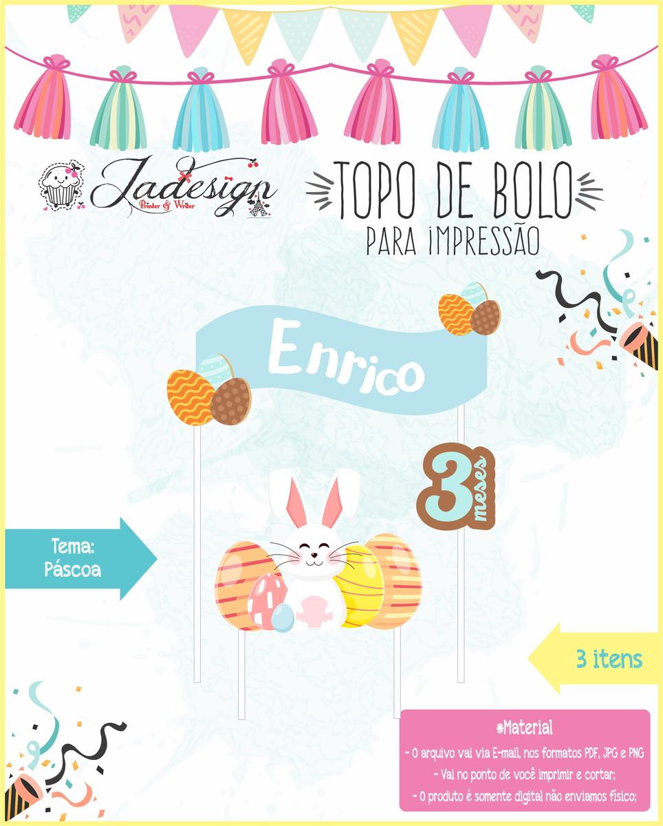 Topo De Bolo Para Impressao Pascoa No Elo7 Jadesign Pw Bbd895