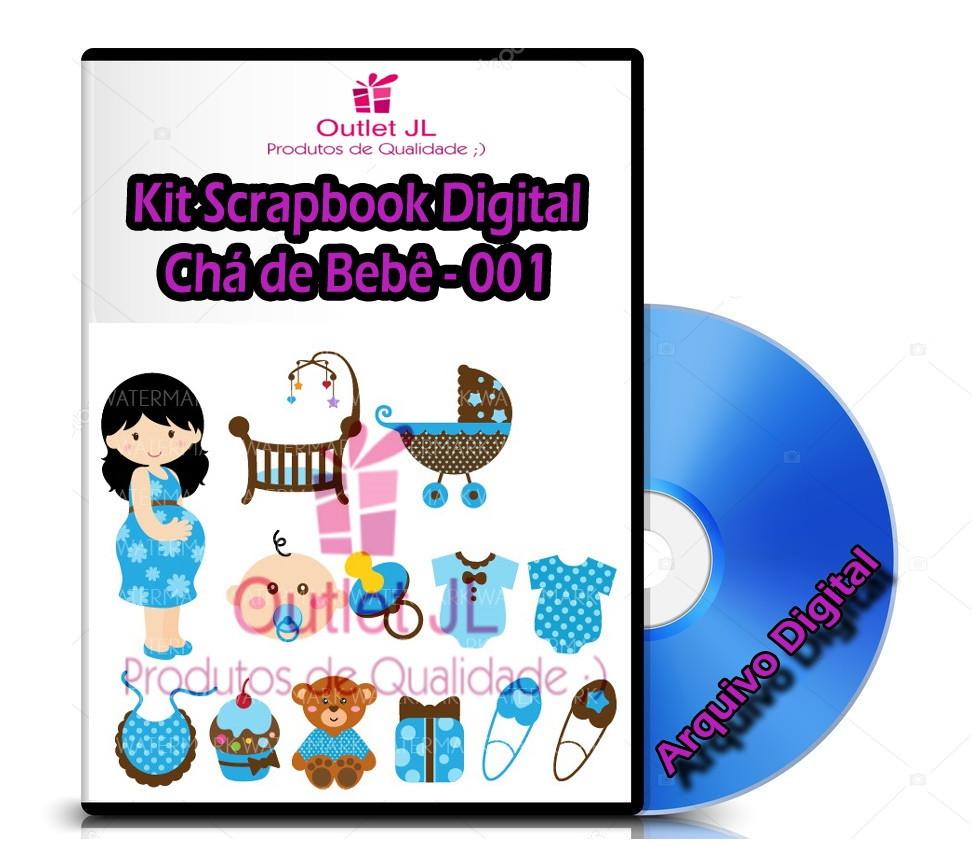 209a228658 Kit Scrapbook Digital - Chá de Bebê - 001 no Elo7